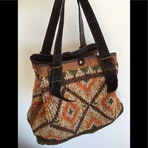 Bonfanti wool and leather purse 👜